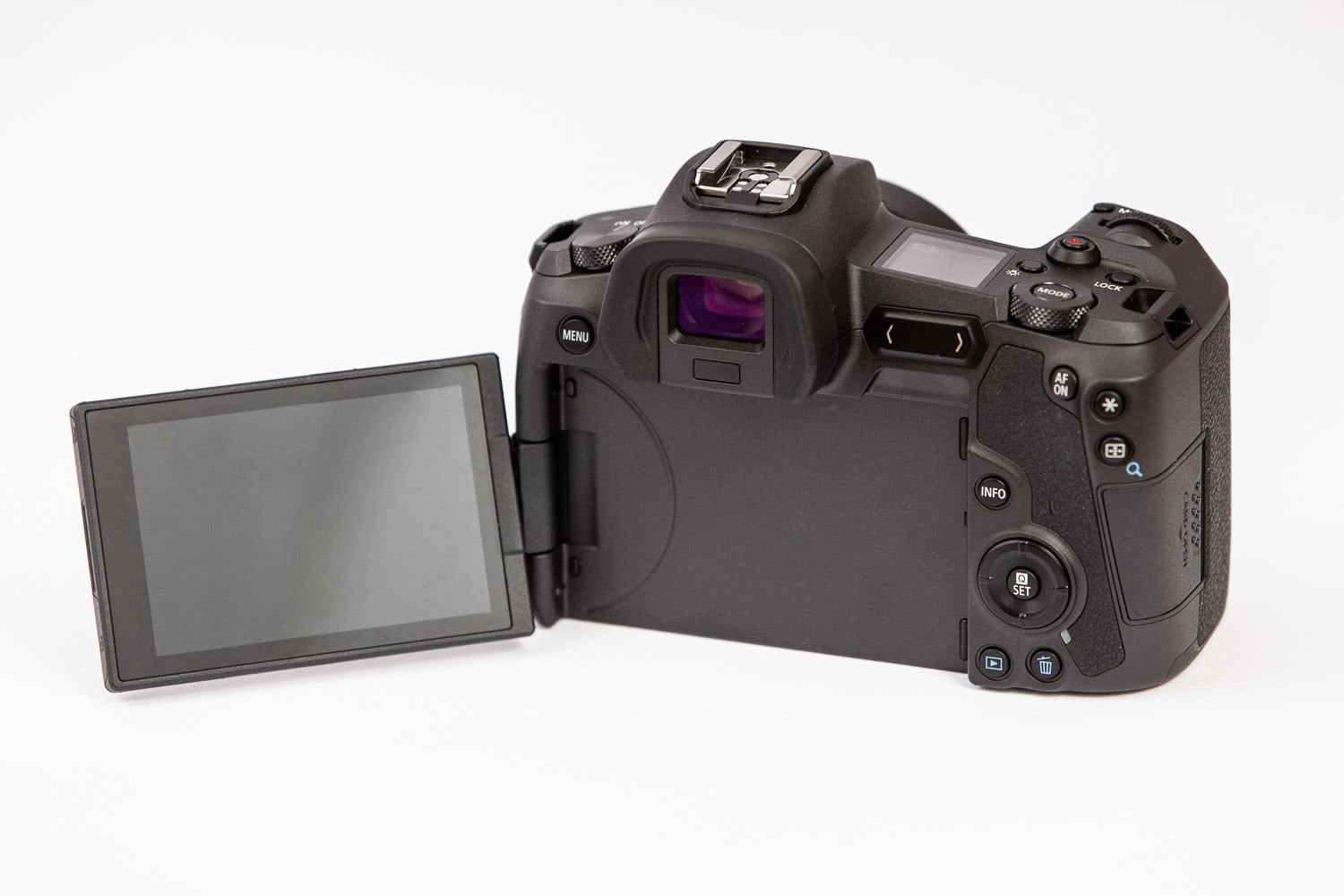 EOS R articulated touchscreen display
