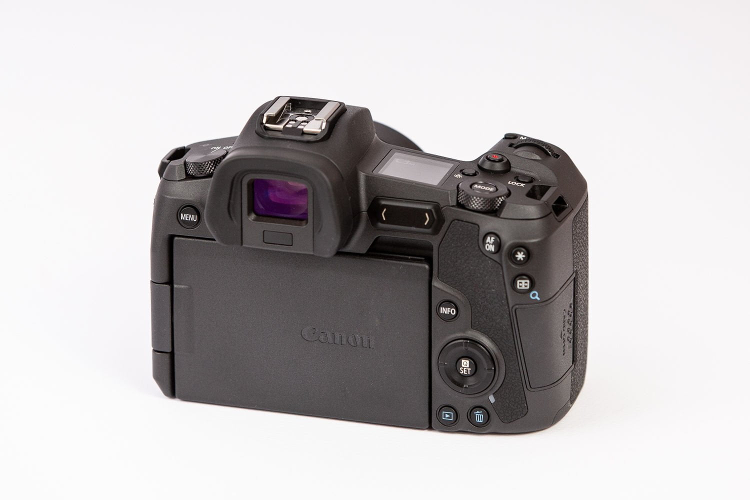 Rear view of the Canon EOS R